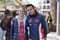 Los atletas Robert y Añibarro.