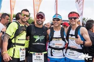 Los atletas Viñes, Moscoso, Becerra y Uceda.