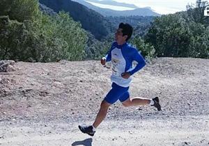 William Aveiro corriendo en sa Talaia.