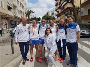 Algunos miembros del Club Atletismo Ibiza.