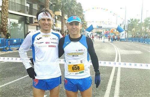José Uceda y Dani Becerra en las inmediaciones de la carrera.